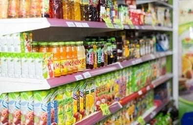 Napoje i soki w sklepie
