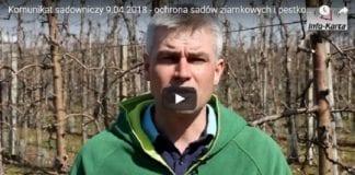 Komunikat sadowniczy 9.04.2018 – Robert Binkiewicz o ochronie sadów ziarnkowych i pestkowych