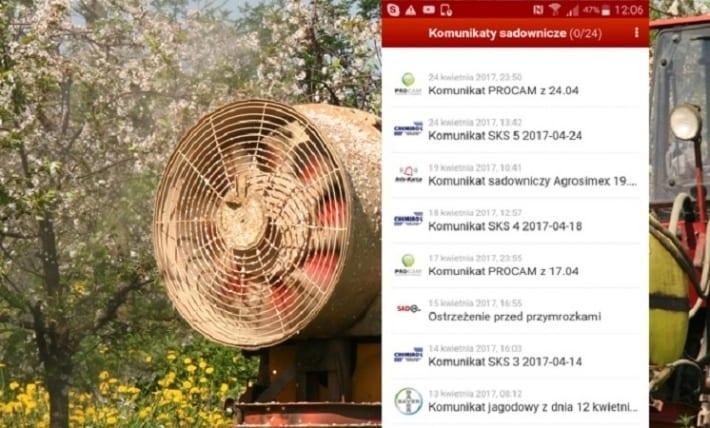 dd53ec51922038 ... ochrona roślin. Od dzisiaj (25 kwietnia) sadownicy korzystający z  darmowej aplikacji KOMUNIKATY SADOWNICZE, będą otrzymywać powiadomienia od  kolejnej ...