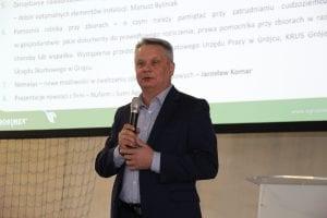 Mirosław Maliszewski mówił m. in. o kontraktacji owoców i zdobywaniu nowych rynków zbytu.