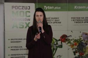 Justyna Wasiak prezentowała ofertę firmy SumiAgro