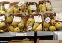 Ceny warzyw i owoców w duńskich sklepach
