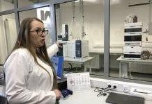 Niektóre pomieszczenia w nowo otwartym laboratorium
