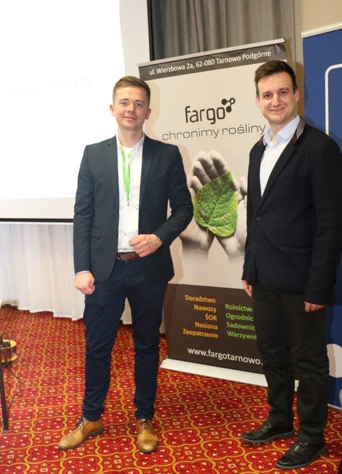 Piotr Przybysz i Michał Kłobus – organizatorzy spotkania, reprezentujący firmę Fargo