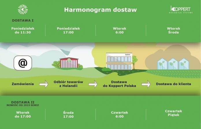 Harmonogram dostaw Koppert