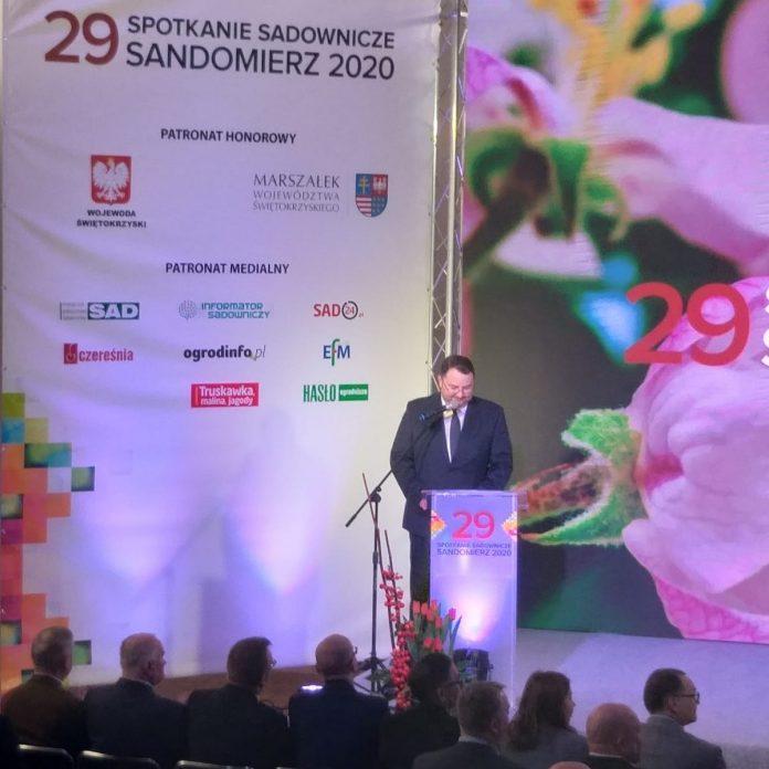 Marek Kawalec, prezes firmy Leaf Media - oficjalne rozpoczęcie 29 Spotkań Sadowniczych w Sandomierzu