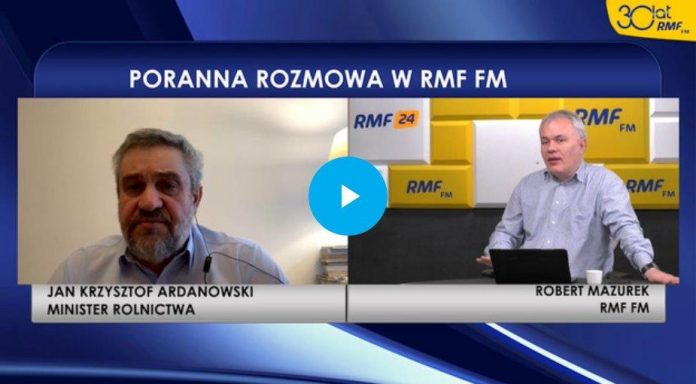 Jan Krzysztof Ardanowski RMF