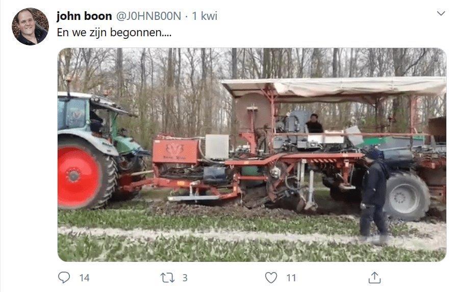 Wpis John Boon na Twitterze
