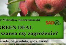 GREEN DEAL – szansa czy zagrożenie? Webinarium już 2.12.2020