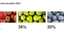 Konsumpcja warzyw i owoców na początku 2021 roku